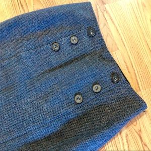 Halogen Skirts - Halogen Tweed Teal And Gray Wool Blend Skirt